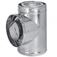 "8DP-TSS 8"" Dura-Vent DuraPlus Tee With Cap, Stainless Steel"