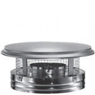 "8DP-VC 8"" Dura-Vent DuraPlus Chimney Cap, Stainless"