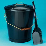 "73110 Black Ash Container & Shovel Set 14""h x 14.75""d x 18""l"