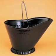 "73200 Black Steel Coal Hod, Holds About 3 Gallons 12""w x 10""h x 10""d"