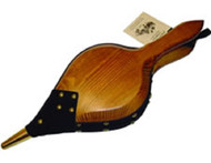 68070 Round Back American White Pine Bellows, Leather Trim