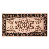 "61152 Woodfield Beige Oriental Rectangular Rug, Wool, 22"" X 44"""