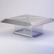 "13215 9"" x 13"" Gelco Stainless Steel Multi-Flue Cap, 3/4"""