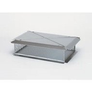 "13235 17"" x 29"" X 16H Gelco Stainless Steel Multi-Flue Cap, 3/4"" Mesh"