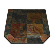 "American Panel Asian Slate Stove Board, Single Cut Corner, 40"" x 40"""