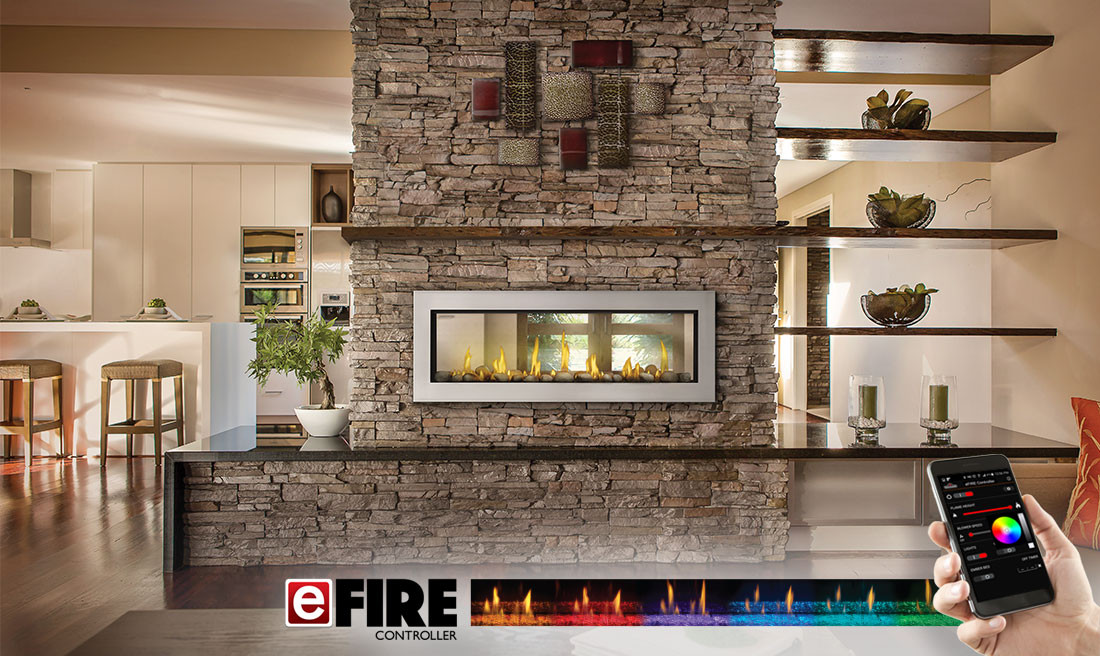 Amazing Napoleon Vector Lv50N 2 Sided Linear Direct Vent Gas Fireplace Beutiful Home Inspiration Truamahrainfo