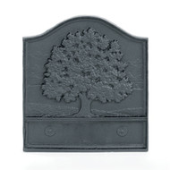 "61095 Pennsylvania Great Oak Cast-Iron Fireback 18""W X 20""H"