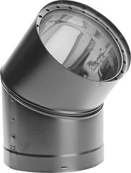 "Dura-Vent DVL Double-Wall Stove Pipe 8"" Diameter 45 Degree Elbow Sectioned, Adjustable 8DVL-E45"