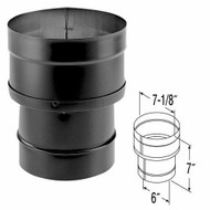 "DuraVent DuraBlack Stovepipe 6"" to 7"" Increaser 6DBK-X7"