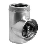 """8"""" DuraVent DuraTech Stainless Steel Tee 8DT-STSS"""