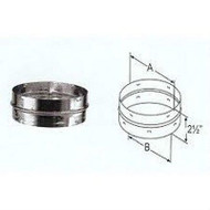 """DVL DURABLACK CHIMNEY Double Wall Stove Pipe ADAPTER Available in 6"""" Diameter"""