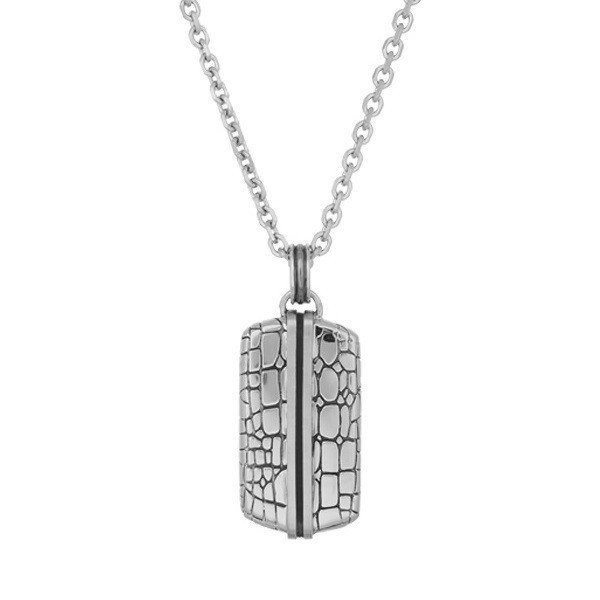 Men's Steel Lizard Dog Tag Pendant (MVA0033)