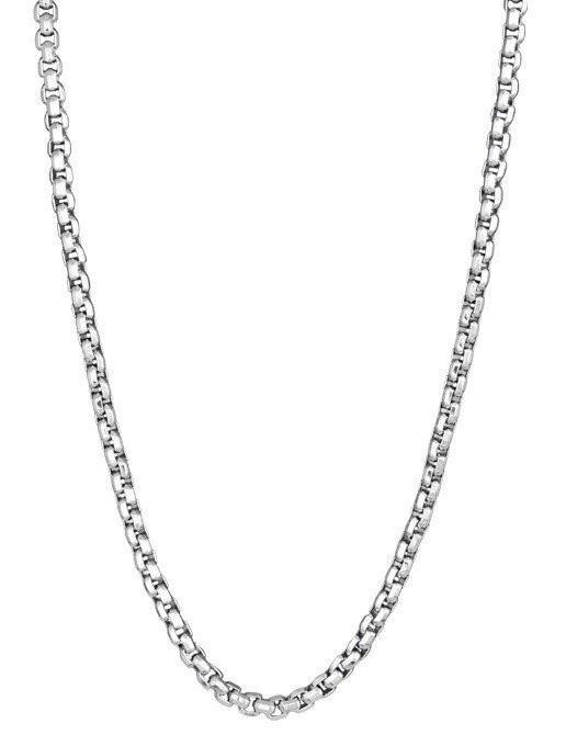 Men's Steel Round Box Link Necklace (MVA0120)
