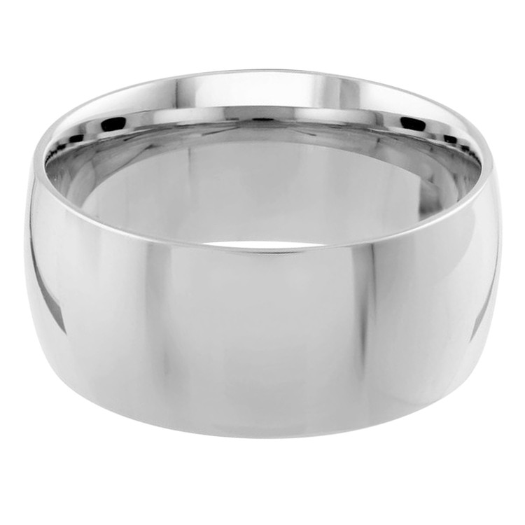 Mens 10 MM white gold dome band (MDVB0084)