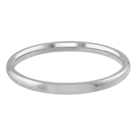 Mens 2 MM white gold dome comfort fit band (MDVB0087)