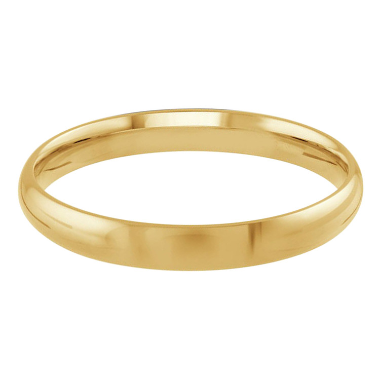 Mens 3 MM yellow gold dome comfort fit band (MDVB0089)