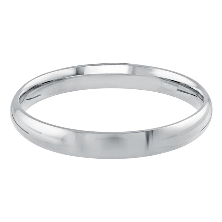 Mens 3 MM while gold dome comfort fit band (MDVB0090)