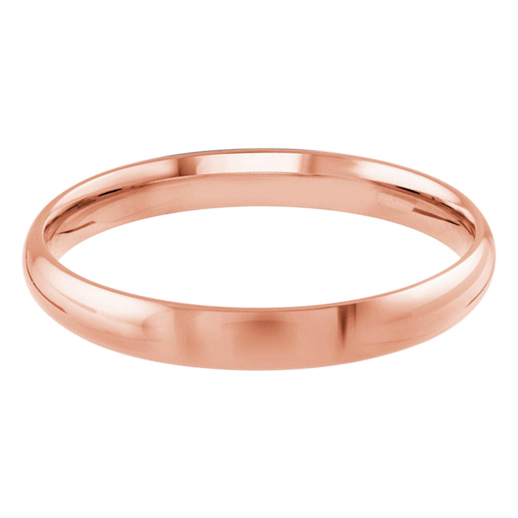 Mens 3 MM rose gold dome band (MDVB0091)