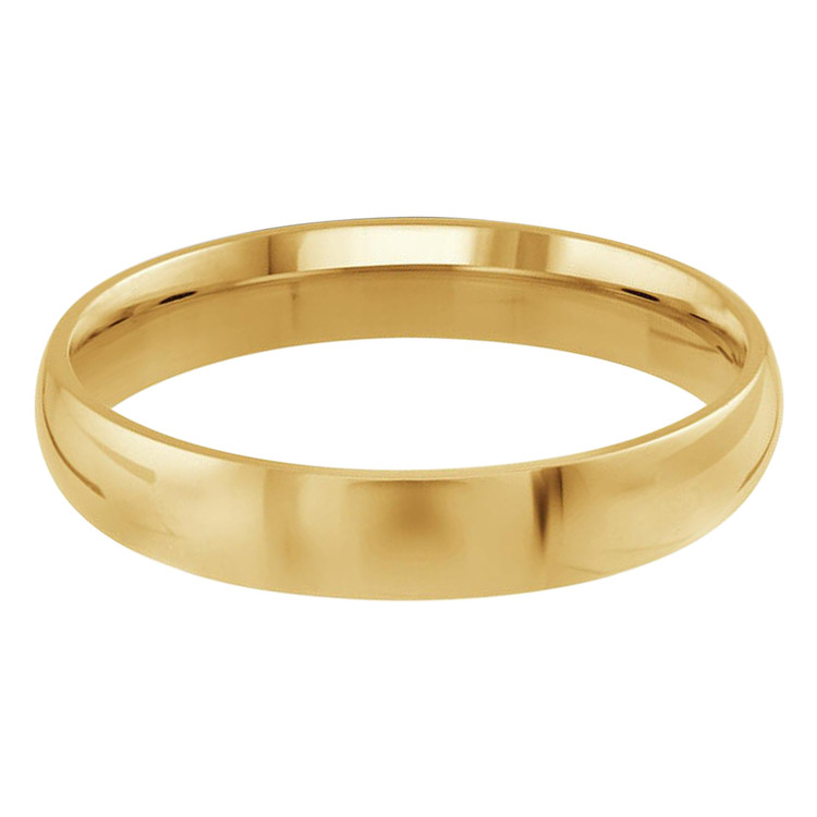 Mens 4 MM yellow gold dome comfort fit band (MDVB0092)