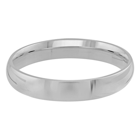 Mens 4 MM white gold dome comfort fit band (MDVB0093)