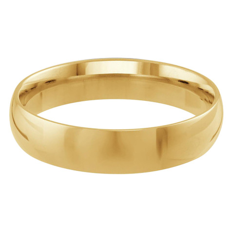 Mens 5 MM yellow gold dome comfort fit band (MDVB0095)
