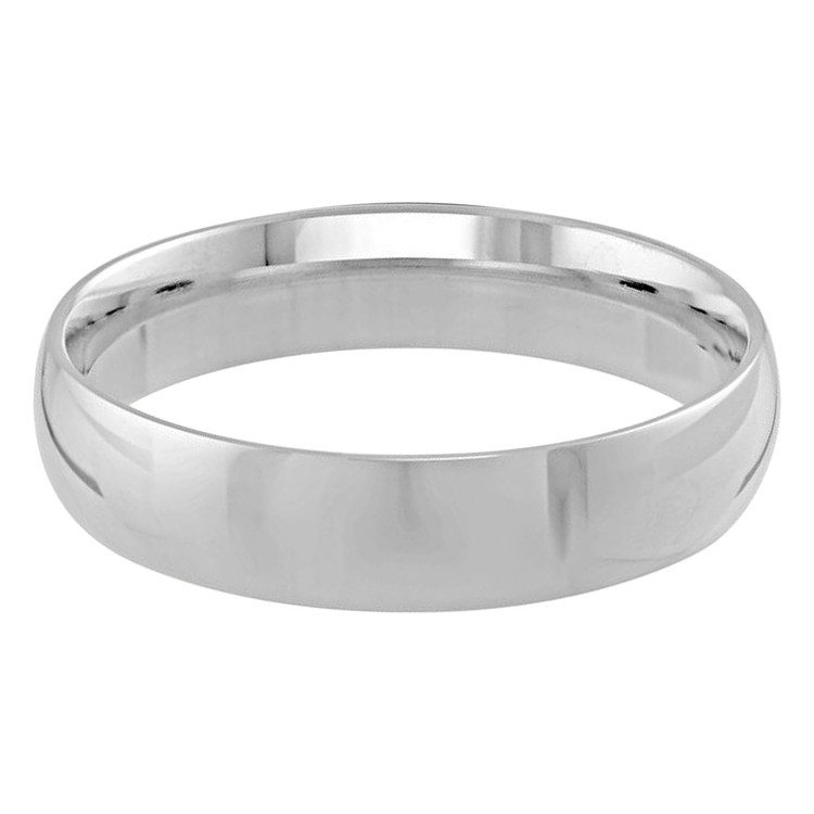 Mens 5 MM white gold dome comfort fit band (MDVB0096)