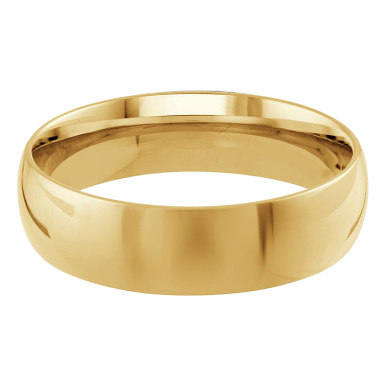 Mens 6 MM yellow gold dome comfort fit band (MDVB0098)