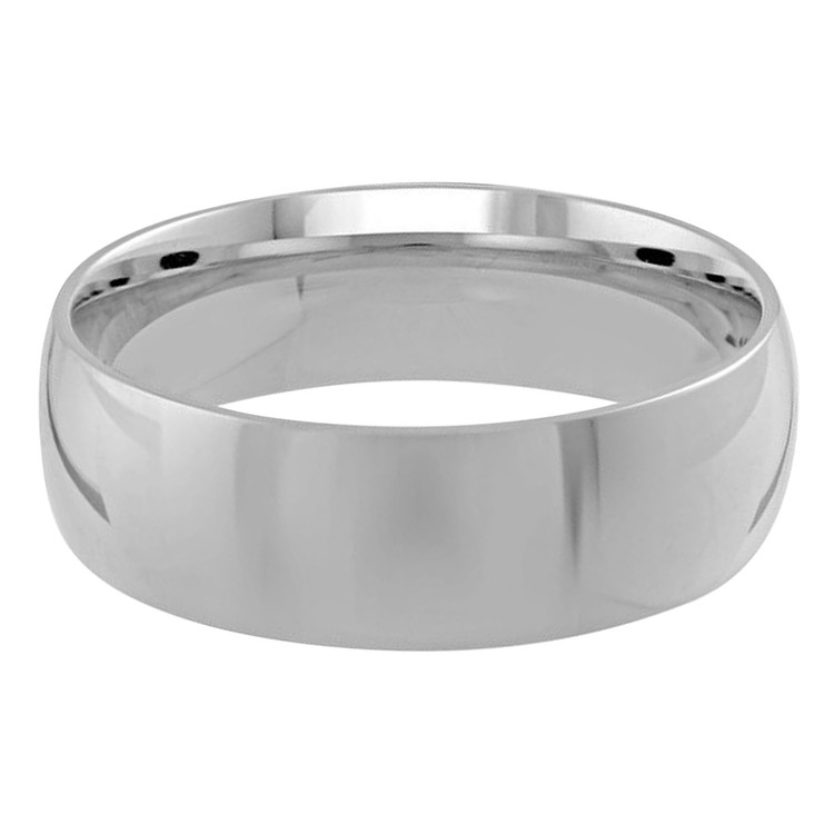 Mens 7 MM white gold dome comfort fit band (MDVB0102)