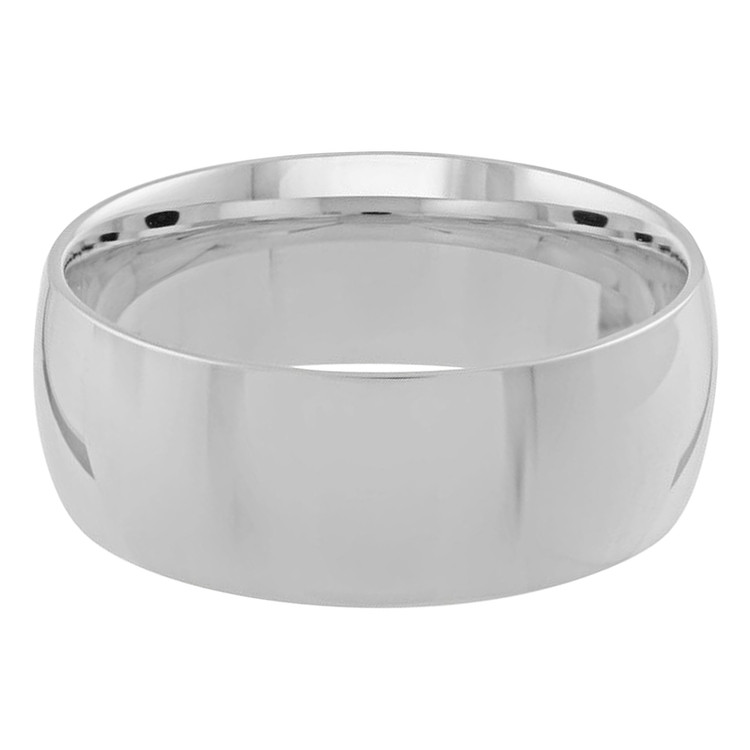 Mens 8 MM white gold dome comfort fit band (MDVB0105)