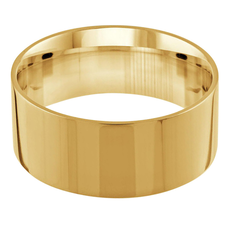 Mens 10 MM flat comfort fit yellow gold band (MDVB0145)