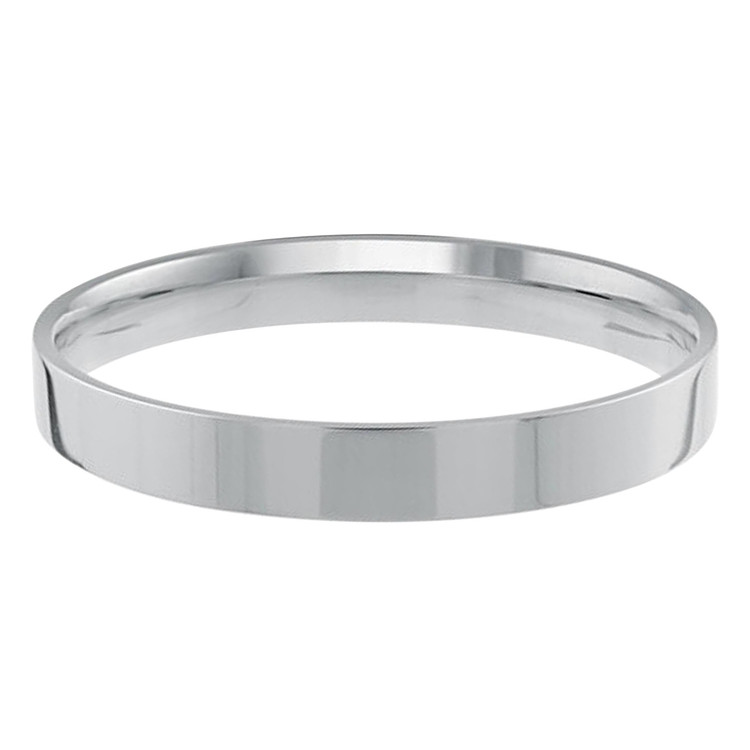 Mens 2 MM flat comfort fit white gold band (MDVB0149)