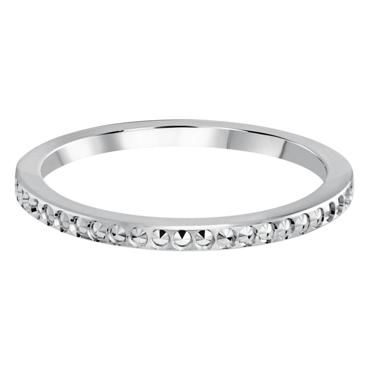 1.5 MM dot design white gold matching band (MDVB0493)