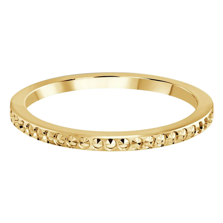 1.5 MM dot design yellow gold matching band (MDVB0494)