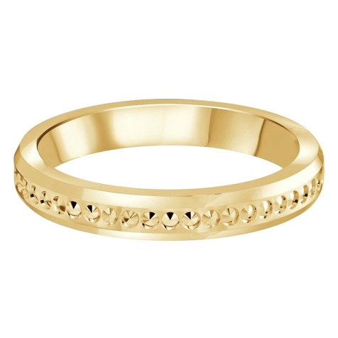 3 MM dot design yellow gold matching band (MDVB0497)