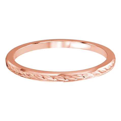 1.5 MM braid design rose gold matching band (MDVB0498)