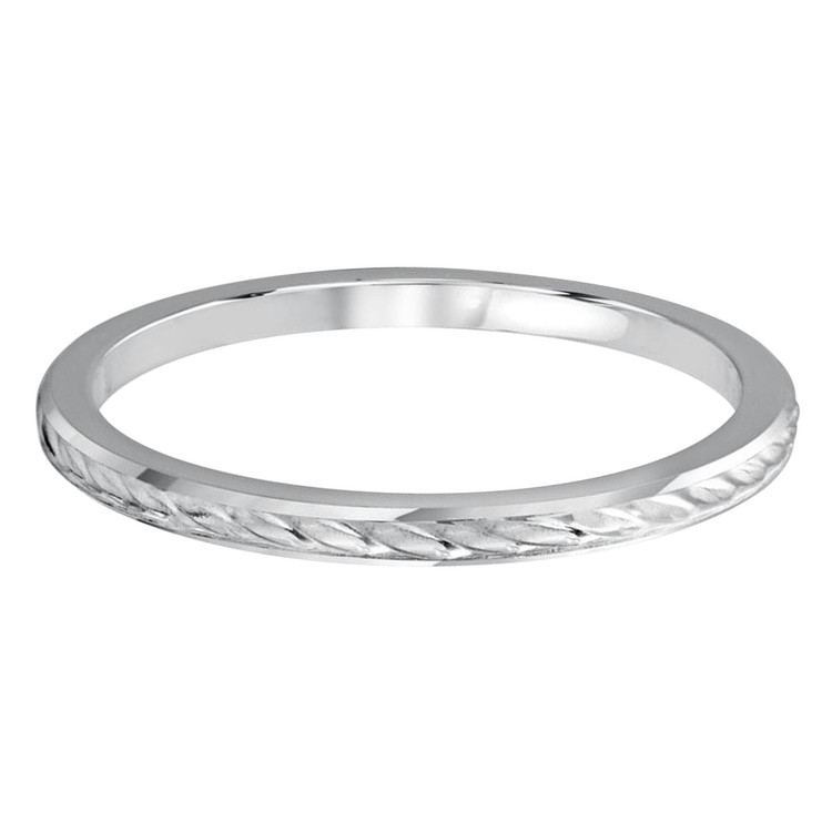 1.5 MM braid design white gold matching band (MDVB0499)