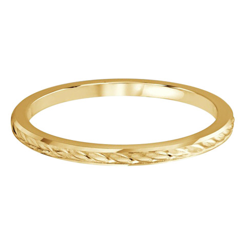 1.5 MM braid design yellow gold matching band (MDVB0500)