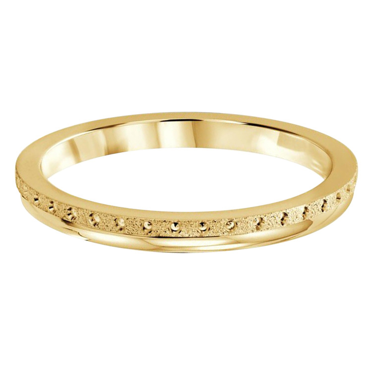 2 MM dot design yellow gold matching band (MDVB0512)