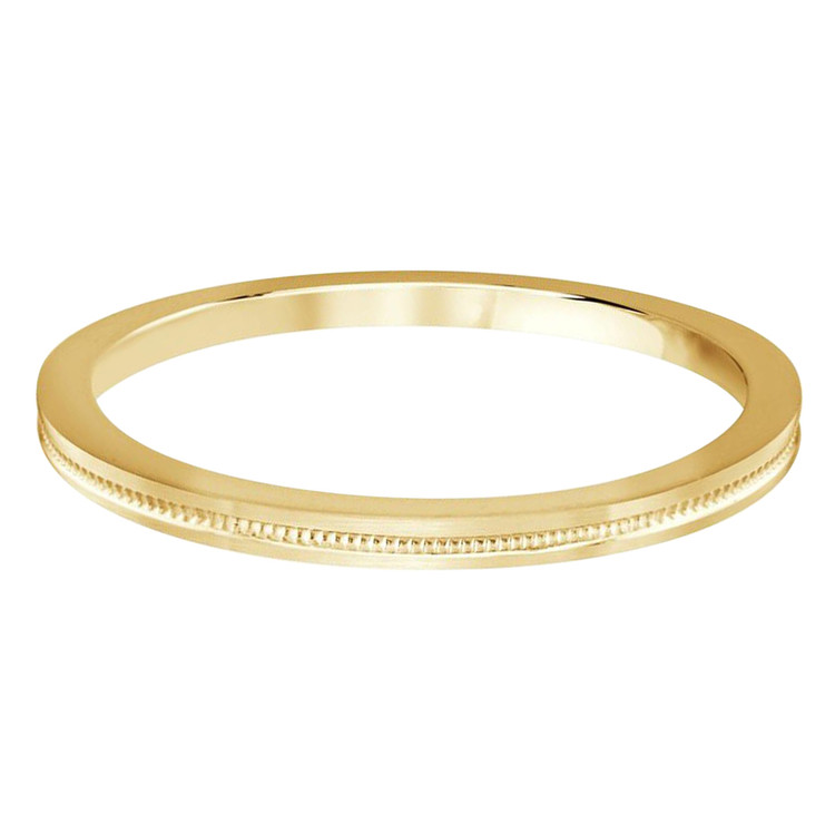 2 MM dot design yellow gold matching band (MDVB0515)