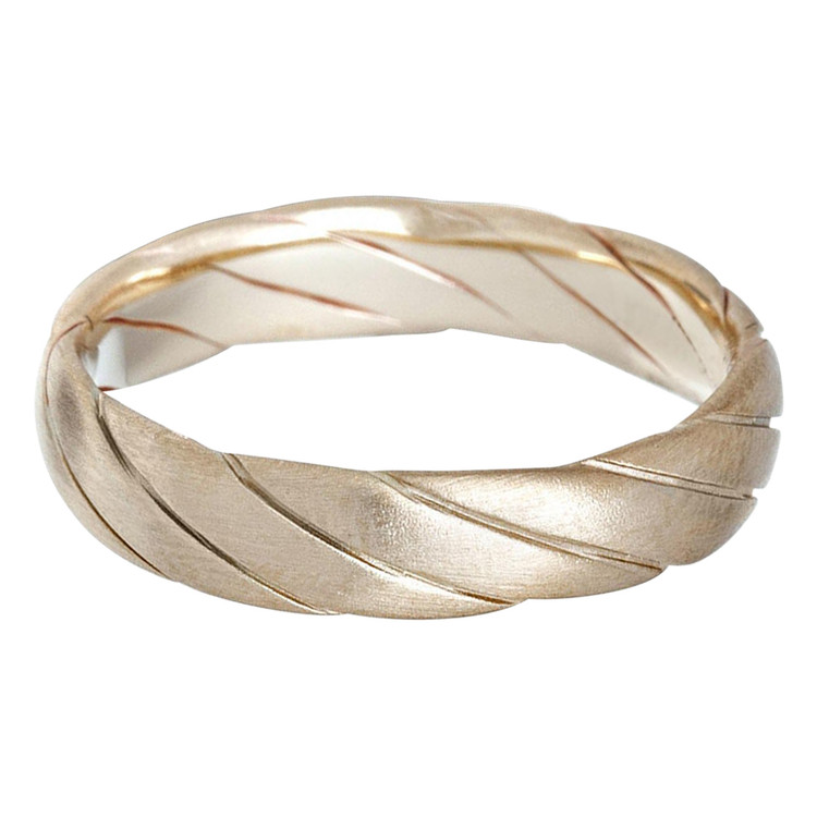 Mens 5 MM all yellow gold twist band (MDVB0635)