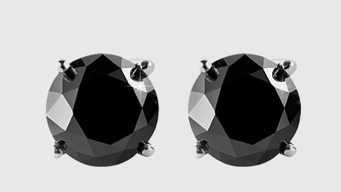 black diamond earrings