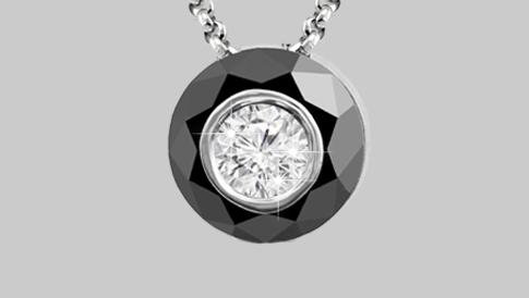 black diamond pendants