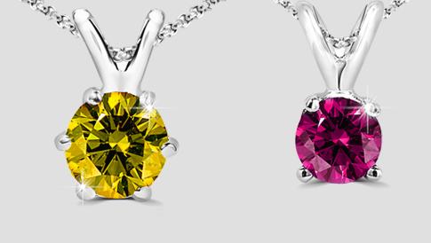 colored diamond pendants 2017