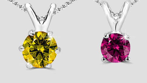 colored diamond pendants 2017