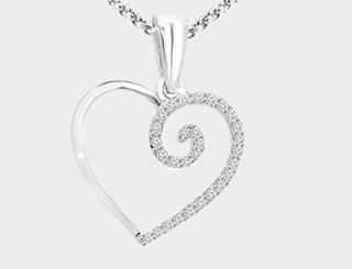 heart shaped pendants 2017