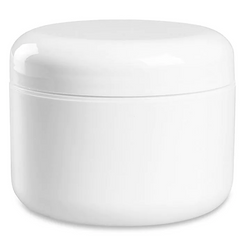 Double wall jar with dome cap