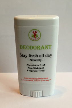 The totally natural deodorant - aluminum free, made from vegetable protein that converts the enzymes that cause odor to a simple salt. It soothes your skin and moisturizes it especially after a new shave - women love this deodorant!