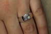 Radiant Cut Diamond Engagement Ring GIA Certified 1.23 Carat VVS2 H Ideal Cut