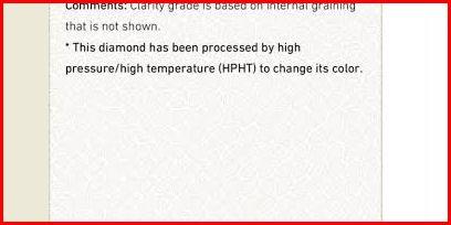 clarity enhancement diamond GIA report
