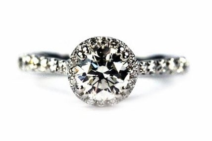 Unique Halo Engagement Ring Top